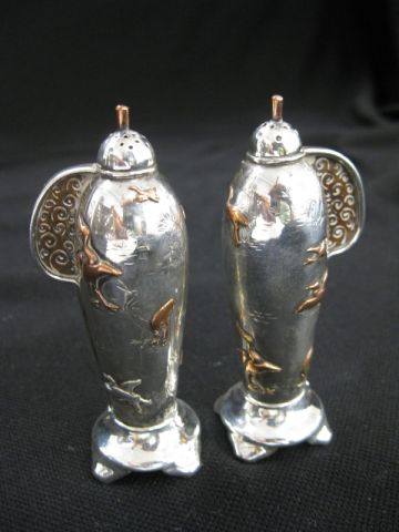 This set of rare Tiffany sterling silver and mixed metals salt and pepper shakers went to a determined buyer from New York City for $4,000 at a multi-estate sale Sept. 25-26 hosted by Richard D. Hatch & Associates.