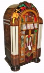 This beautiful and beautifully restored Wurlitzer Model 950 vintage jukebox, made in 1942, sold for $48,875.