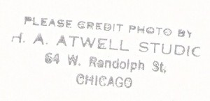 An original Atwell photo can be identified by this stamp on the back.