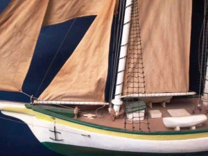 Many models had true life details as seen in this deck shot of the schooner.