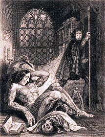 "First illustration of ""Frankenstein,"" 1831."
