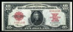 Tying for top lot honors was this U.S. Legal tender 1923 $10 note in superb/gem condition ($6,780).