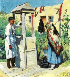 "A Pueblo Well Scene"" by Walter Ufer (estimate: $1.5-2.5 million) was commissioned by Oscar F. Mayer, who was an early supporter of Ufer's talents."