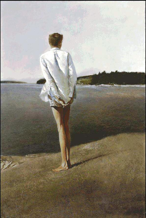 "Above the Narrows,"" by Andrew Wyeth, is among the works featuring three generations of Wyeths to come up for auction at Christie's Important American Paintings, Drawings, and Sculpture auction on Dec. 2, 2009 in New York."