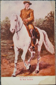 This card was taken from a Rosa Bonheur painting and has a printed signature.