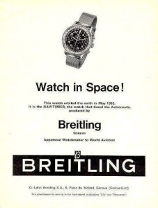 "An ad following the scrubbing of the word ""Cosmonaut"" from the watch because of concerns in the U.S. about the Red Scare and the space race with the Soviet Union."