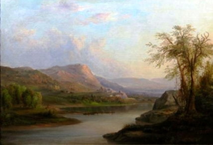 This is the restored Robert Scott Duncanson landscape with the original colors intact.