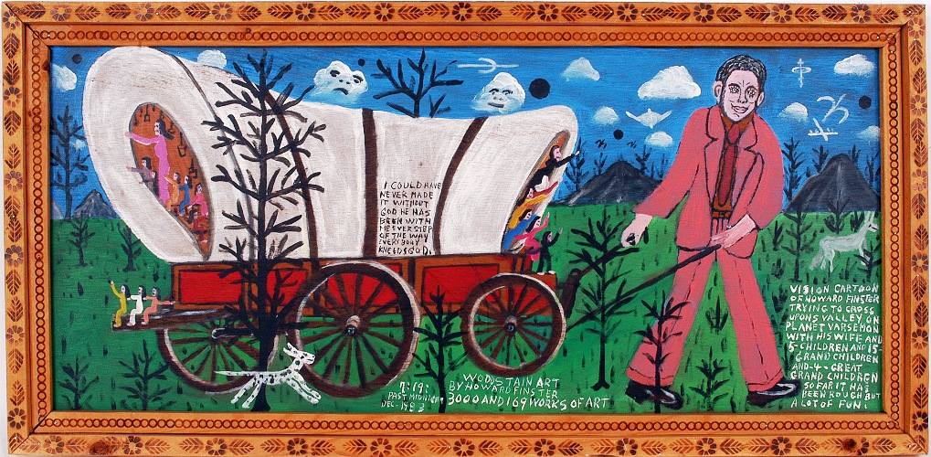 A paint-on-board creation by the renowned late folk artist Howard Finster, executed in 1983, is among the items collected by folk art collector and early self-taught art pioneer Lynne Ingram that will go on auction on Nov. 7.