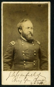 Rare, signed carte de visite of slain President James A. Garfield, taken during the Civil War brought $4,068 at an auction held Nov. 14-15 by Philip Weiss Auctions.