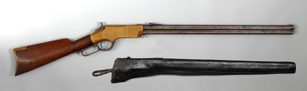 This rare .44 caliber Henry rifle, purchased by the U.S. Government for use during the Civil War, sold for $48,300 at an sale held by Cottone Auctions in August.