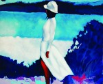 """Signed serigraph by Italian-born artist Nicola Simbari (b. 1929), titled """"White Dress"""" is expected to bring in an estimated $700 to $1,000."""