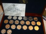 Collection of proof uncirculated U.S. American Eagle silver coins (1986 to near-present).
