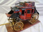 Museum-quality scale model of a Wells Fargo stagecoach, made in the 1930s or '40s ($2,486).