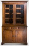 This Chippendale step-back cupboard (circa 1800-1820), from western North Carolina, is estimated to realize between $10,000 and $15,000.