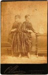 Millie & Christine McKoy were Siamese Twins billed as the Two-Headed Nightingale. This cabinet card photo sold last year (2008) for $141.