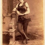 Miss Uno was a snake charmer with Adam Forepaugh Shows. Even though she doesn't have her snake in this cabinet card photo, the image sold for $33 in 2008.