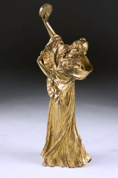 This gilt bronze figural dancers—one of a pair—by French artist Agathon Léonard brought $60,950 at a Fine & Decorative Arts Cataloged Auction held Dec. 5 by Leland Little Auction & Estate Sales, Ltd.