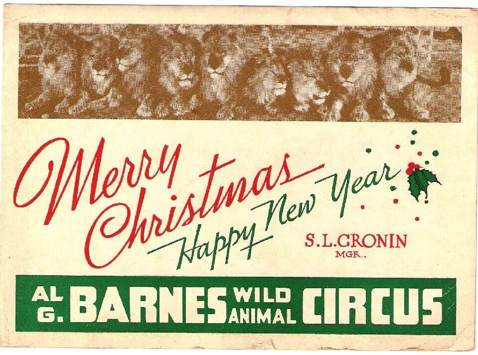 An Al G. Barnes card from the 1930s.