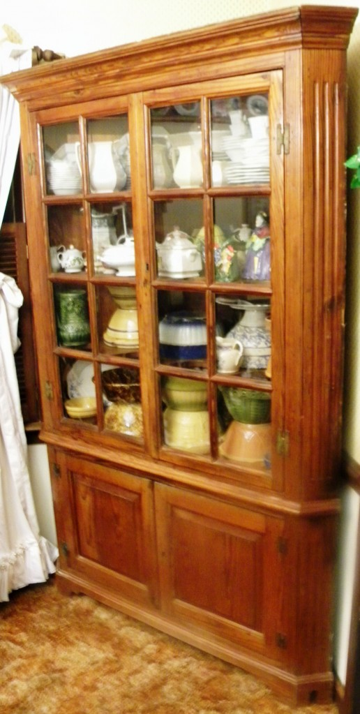 Yellow pine Virginia corner cupboard from Sussex County (circa 1800-1810) will be one of the its up for auction in the 26th annual Tom's Auctions and Appraisals New Year's Sale.