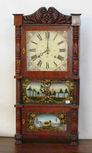 A traditionally appointed shelf clock by John Birge (1785-1862), in Bristol, Conn., after 1840.