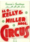 The front of a card from the Al G. Kelly & Miller Bros. Circus.