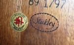 This is the mark of the only surviving Stickley company, L. & J.G. Stickley of Manlius, N.Y.