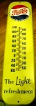 Vintage Pepsi thermometer, just one of many Pepsi and Coca-Cola collectibles that will be sold.