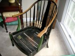 This is a revival style chair from Stickley Brothers from the 1920s and 1930s.
