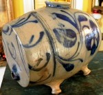 This intriguing pig-in is one of scores of wonderful stoneware pieces that will cross the block.