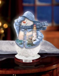 "The ""Beacon of Hope"" Kinkade Christmas figurine."
