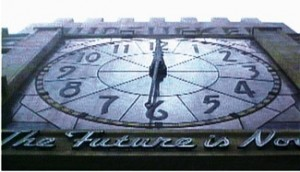 The movie is full of horological imagery, from the massive clock to having characters symbolically wind and remove their wristwatches.