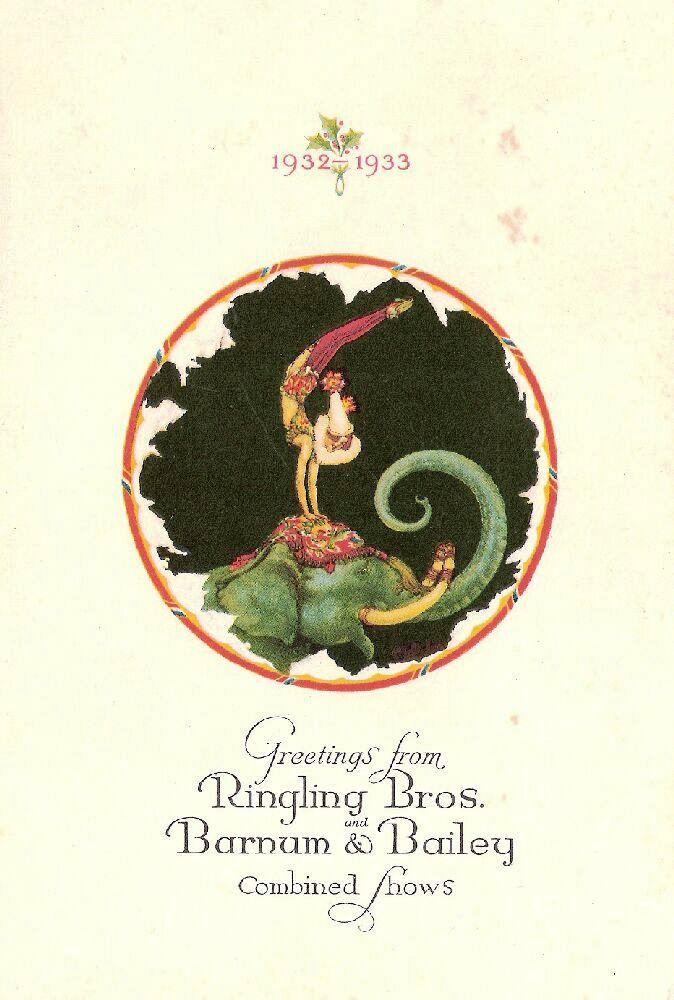A Ringling Bros. and Barnum & Bailey card from 1932.