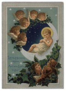 An example of a vintage Christmas card.