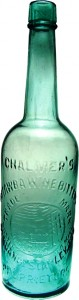 This Chalmer's Catawba wine bitters bottle, graded 9.8 and one of the top five western bidders, sold for $19,600—this top-selling item in an Internet and catalog auction hosted by American Bottle Auctions that closed on Jan. 18, 2010.