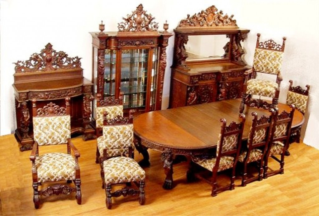 On the other hand, this magnificent, heavily carved dining room set by R. J. Horner is one of a kind. It sold for $80,500 at Burchard Galleries in St. Petersburg, Fla. in 2008. (Burchard photo)
