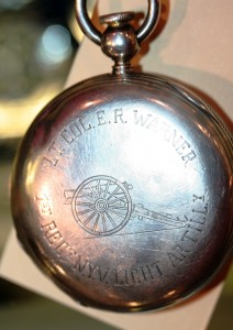 My favorite watch of the show was the timepiece once owned by Lt. Col. Edward R. Warner of the 1st NY V Light Artillery.