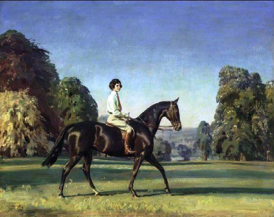 "Millicent Baron on 'Magpie'"" by Sir Alfred Munnings."