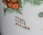 To piece is signed by the artist, Mabel Lucie Atwell, circa 1940.