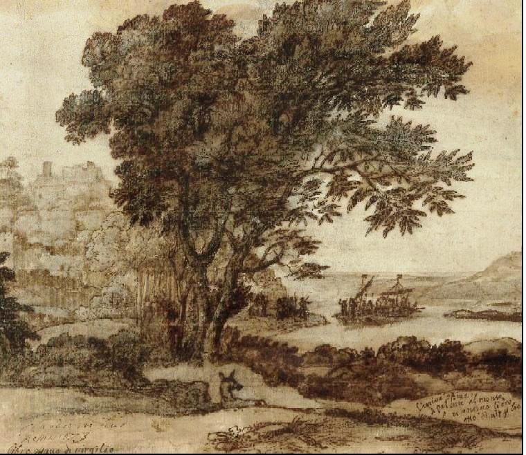 "The arrival of Aeneas at Pallanteum,"" by Claude Lorrain."