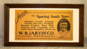 A rare 1913 W.B. Jarvis Sporting Goods Store advertising sign featuring Ty Cobb was a steal at $7,350.