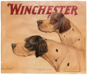 "This is a one-of-a-kind Winchester ""classic combination"" advertising poster, circa 1890, which could sell anywhere between $2,500-$10,000."