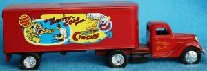 This Ertl Clyde Beatty Cole Bros. Circus Truck is also a bank. I've seen this sell for as little as $10 and as much as $60.