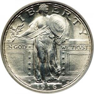 1916 Liberty Standing Quarter.
