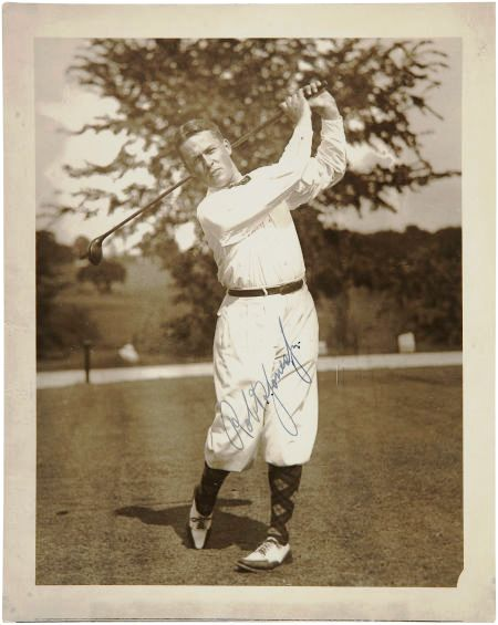 A Bobby Jones signed photograph,