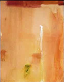"Dawn Stroke"" by Helen Frankenthaler, is among the key abstract expressionist works offered in the Christie's sale."