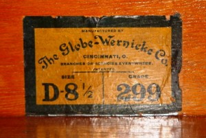 This is the typical GW label found in most GW cabinets.