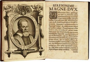 "A copy of the first edition in Latin of Galileo's ""Dialogo,"" containing the argument that the Earth revolves around the sun, printed in Strassburg in 1635."
