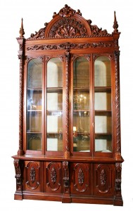 One of four matching American Gothic bookcases from the historic Annesdale mansion-villa in Memphis will be among the items up for bid at a March 13, 2010 auction to be hosted by Hal Hunt Auctions in Northpoint, Ala.