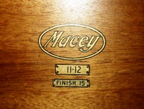 "After Otto Wernicke acquired the Fred Macey Company in 1905, he ultimately renamed it simply ""Macey"" in 1907, using this label."