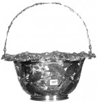 This signed Tiffany & Co. sterling silver reticulated basket  sold for $2,900.